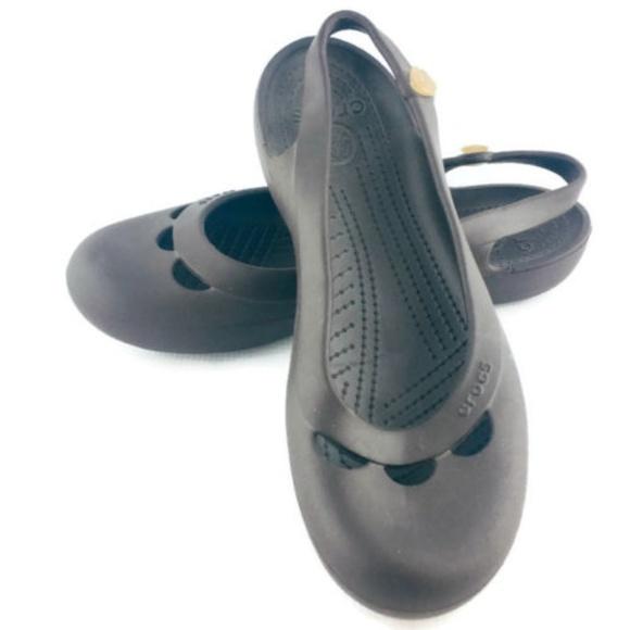7c3a49efdf CROCS Shoes | Jayna Womens Sz 11 Brown Ballet Flats | Poshmark crocs jayna women's  ballet flats